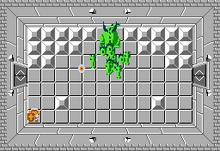 Link frente a Gleeok en el Nivel 7 (Segunda Búsqueda) TLoZ