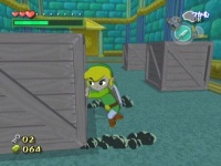 Link moviendo un bloque TWW