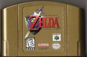 The Legend of Zelda - Ocarina of Time Gold Cartridge