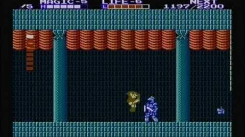 Zelda the adventure of link - Boss 2 Helmethead