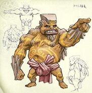 Goron Kong concepto de arte