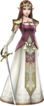 Princesa Zelda ropas TP HW