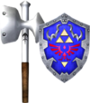 Megaton Hammer and Hylian Shield (Soul Calibur II)