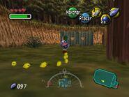Link marchando con cucos polluelos