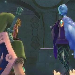 Faih appare a Link dopo aver ricevuto lo Scarabeo