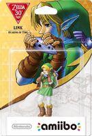 Embalaje europeo del amiibo de Link (Ocarina of Time) - Subserie 30 aniversario