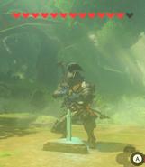BotW-Link sacando la espada maestra