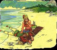 Marin encontrando a Link