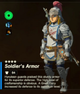 Breath of the Wild Hyruelan Soldier Armor (Level 4) Soldier's Armor (Inventory)