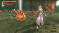 Zelda con una bolsa HW