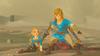 Link protégeant Zelda BOTW