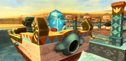 Skyward Sword Skipper's Motorboat Timeshift Stone Engine (Activated)