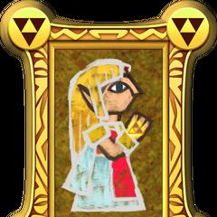 Principessa Zelda in un dipinto