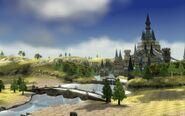 Castillo de Hyrule desde la pradera TP 4