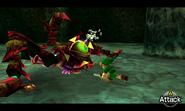 Link contra Reina Gohma OoT 3D