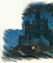 Hyrule Castle and Link (A Link to the Past)