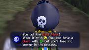 Link consiguiendo la Máscara Explosiva