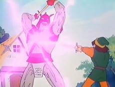 Rayo de la espada en la serie animada