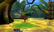 Link Deku saltando en MM 3D
