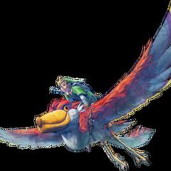Link mentre vola