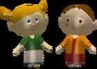 Agnès et Johanna figurine