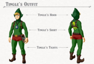 Breath of the Wild DLC Armor Tingle Armor Set (Tingle's Hood, Tingle's Shirt, & Tingle's Tights)