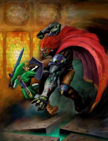Файл:Link vs. Ganondorf (Ocarina of Time).png