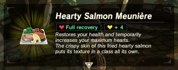 Hearty salmon meunire zeldapedia fandom powered by wikia forumfinder Image collections