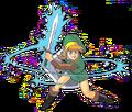 Link ejecutando un Ataque Circular artwork LA