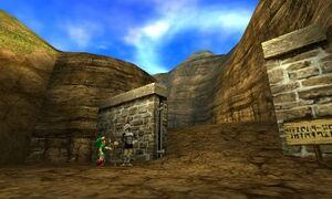 Link mostrando Carta Zelda OoT