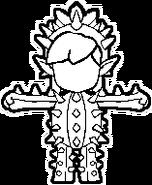 Sello Miiverse Atuendo Disfraz de cactus Tri Force Heroes