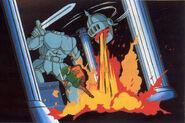 Batalla contra Helmethead artwork TAoL