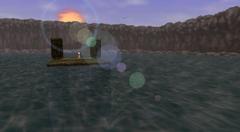 Lago Hylia flechas de fuego OoT