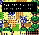 Link consiguiendo una pieza de poder LA DX