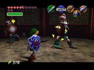 Link en combate contra los Stalfos