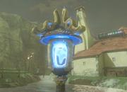 Antorcha de llama azul Aldea Hatelia BotW