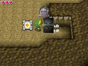 Link empujando un bloque