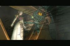 Midna trata proteger Zelda TP