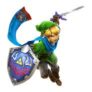 4.Link usando su Espada Maestra & su Escudo Hyliano