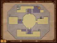 Mapa de la tercera planta del Templo de los Mares ST
