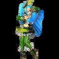 Lana traje verde HW