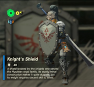 Breath of the Wild Knight's Equipment Knight's Shield (Inventory)