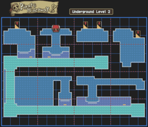 Pirate Hideaway Underground Level 2 Map With Chests