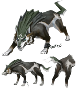 Twilight Princess Artwork Wolf Link (Concept Artwork)