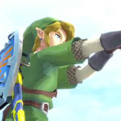Link mentre usa la Fionda