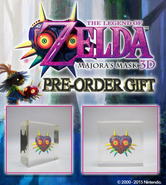 Anuncio del pisapapeles The Legend of Zelda Majora's Mask 3D