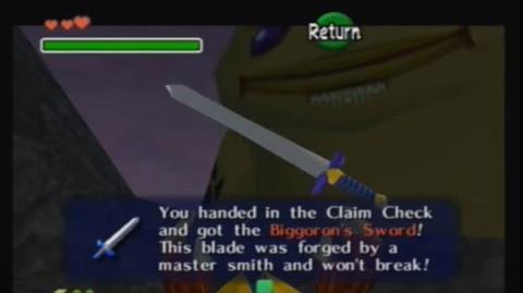 Ocarina of Time - Secuencia de intercambio de la Biggoron Sword (2)