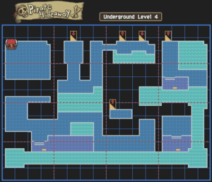 Pirate Hideaway Underground Level 4 Map With Chests