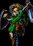 Link atacando con la Espada Kokiri artwork MM 3D