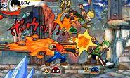 Zoro con el traje de Link y otros personajes - One Piece Super Grand Battle! X